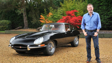 Martin Brundle and his Eagle Jaguar E-type