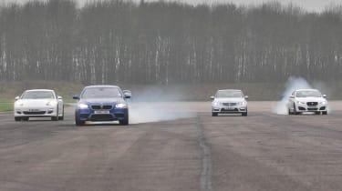 BMW M5 drag race