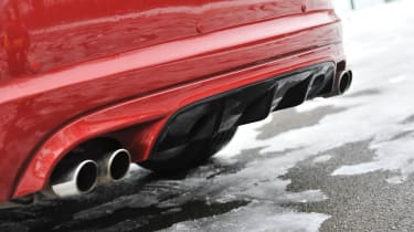 2013 Jaguar XFR Speed Pack rear diffuser quad exhausts