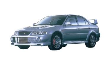 Mitsubishi Evo VI - front three quarter