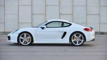 2013 Porsche Cayman S white side profile