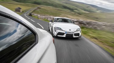 BMW M2 Competition vs Toyota GR Supra - driving