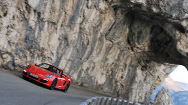 Porsche Boxster S in the mountains