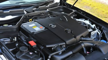 Mercedes-Benz SLK 250 CDI AMG Sport engine