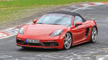 Porsche 718 Boxster GTS spy shot - Front