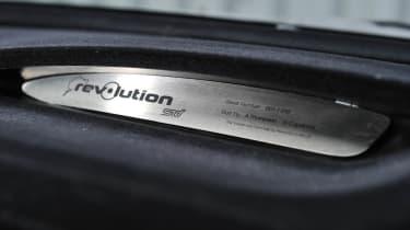 Revolution Project STI Nurburgring Subaru Impreza numbered badge plaque