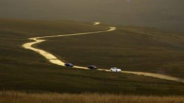 Porsche Panamera v Maserati Quattroporte S v Jaguar XFR