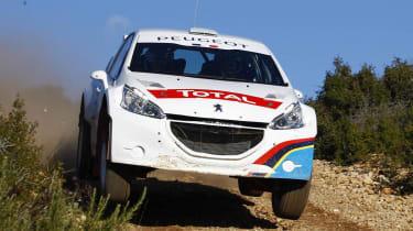 Peugeot 208 T16 rally car