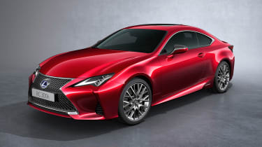 Lexus RC coupe facelift - front quarter