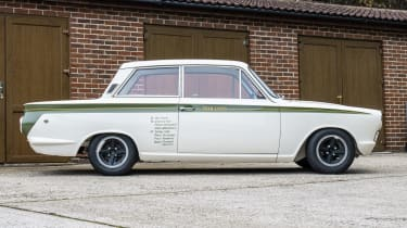 1966 Lotus Cortina Group 5 side