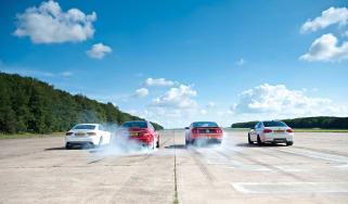 Ford Mustang Boss 302 v BMW M3 v Audi RS5 v Mercedes C63 AMG Coupe