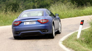 2012 Maserati GranTurismo Sport rear cornering