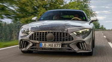 Mercedes SL Prototype – front tracking