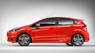 Ford Fiesta ST five door side view