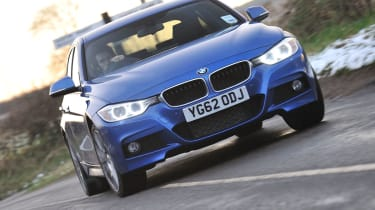2013 BMW 330d M Sport slide skid drift sideways