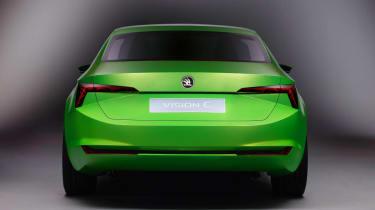 Skoda VisionC concept car rear view