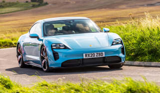 Porsche Taycan 2021 review - 4S front quarter