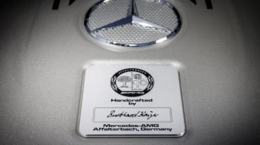 Mercedes S65 AMG engine plaque