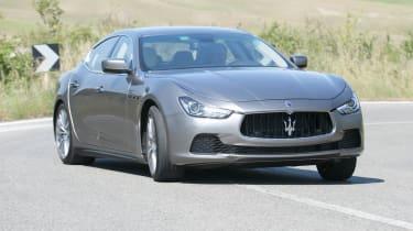Maserati Ghibli cornering sideways drift