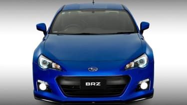 Subaru BRZ S blue front body kit