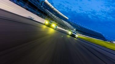 Lexus RC F GT3 and Mercedes-AMG GT3 at Daytona International Speedway