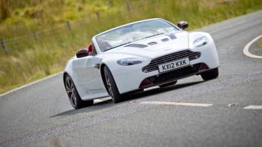 Aston Martin V12 Vantage Roadster sliding drift