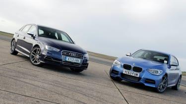 Audi S3 v BMW M135i track video