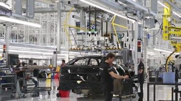 Lamborghini Urus SUV – on the production line
