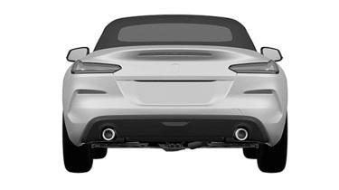 BMW Z4 patent leak - rear