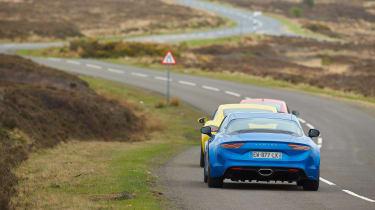 evo Supertest A110 vs rivals - rear