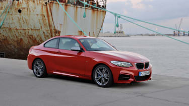 BMW 2-series coupe red front