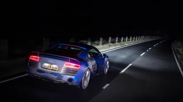 Audi R8 LMX night drive - rear