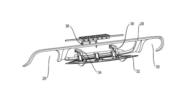 Porsche active rear diffuser patent diagram