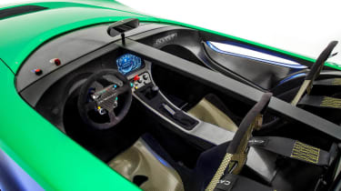 Caterham AeroSeven Concept sports car interior digital TFT dashboard