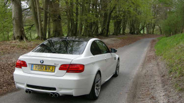 BMW M3 Competition rear static with road