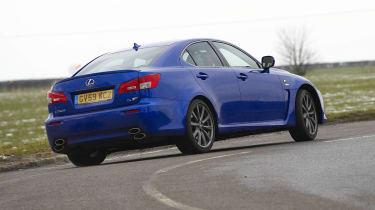 Lexus IS-F rear action