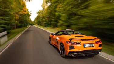 Chevrolet Corvette C8 Cab EU review – rear tracking