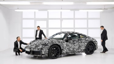August Achleitner and the 992 Porsche 911 prototype