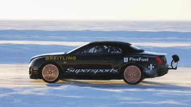 Ice record breaking Bentley Continental Supersports Convertible at Cholmondeley