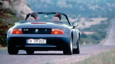 BMW Z3 blue rear