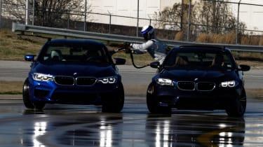 BMW M5 drift attempt - slide