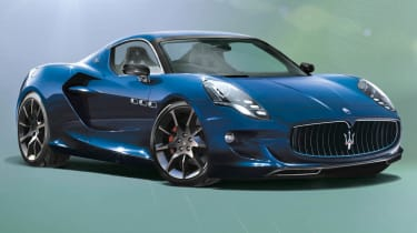 2015 Maserati GranSport mid-engined V8 supercar rendering