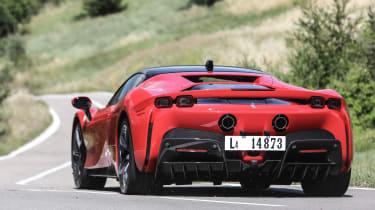 Best hybrid cars 2021 - SF90 rear