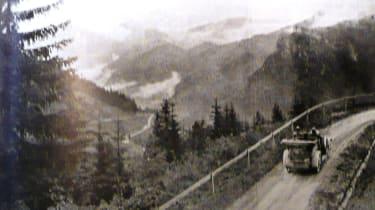 Climbing a typical Alpine pass
