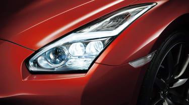 Nissan GT-R 2014 model year front LED light pattern