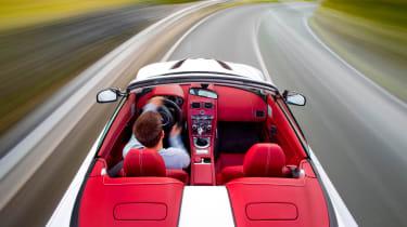 Aston Martin V12 Vantage Roadster interior driving