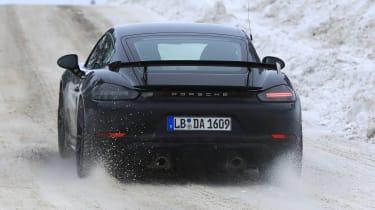 Porsche 718 Cayman GT4 spy - turning