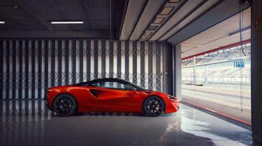 McLaren Artura revealed - orange static side