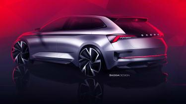 Skoda Vision RS concept sketch - rear