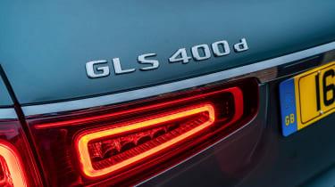 Mercedes GLS400d UK drive - badge